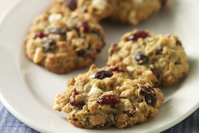 Cookies d'avoine et cranberry
