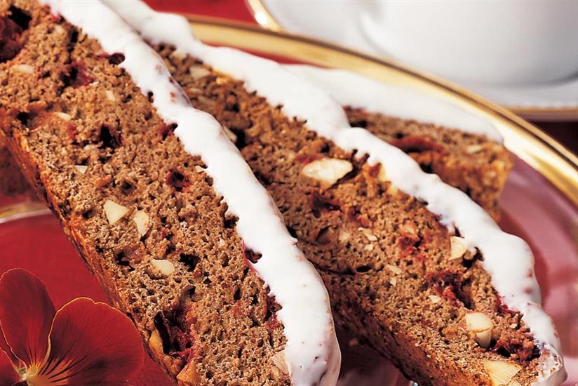 Biscottis Cappuccino et Cranberries