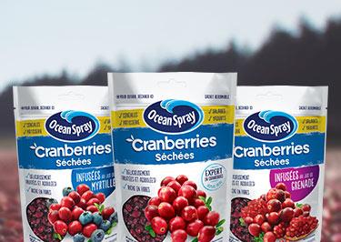 Les cranberries séchées Ocean Spray